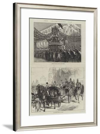 The Thanksgiving Day--Framed Giclee Print