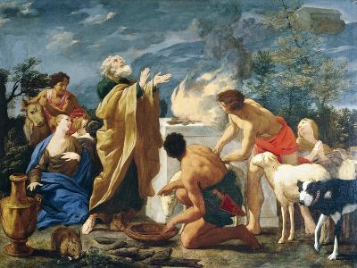 The Thanksgiving of Noah, 1639-1709-Giovanni Battista Lusieri-Giclee Print