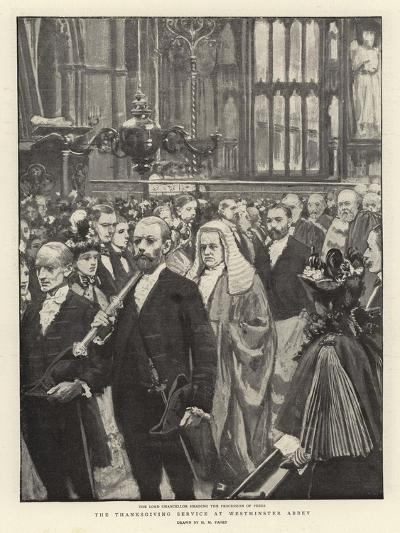 The Thanksgiving Service at Westminster Abbey-Henry Marriott Paget-Giclee Print