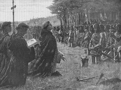 The Thanksgiving Service on the Field of Agincourt, France, 1415-EBL-Giclee Print