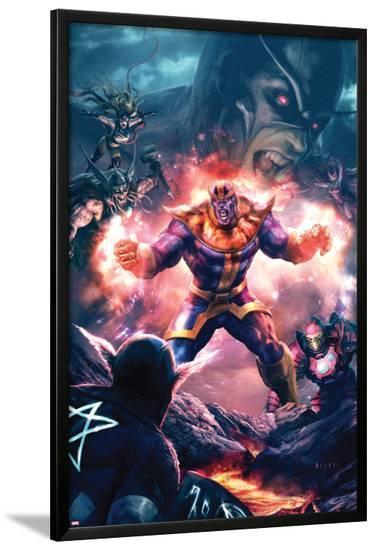 The Thanos Imperative No.3 Cover: Thanos Screaming-Aleksi Briclot-Lamina Framed Poster
