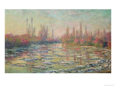 The Thaw on the Seine, Near Vetheuil, 1880-Claude Monet-Giclee Print