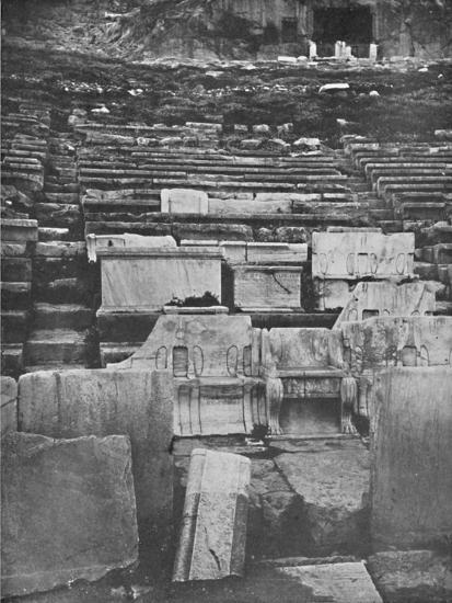 'The Theater of Dionysus, Athens', 1913-Unknown-Giclee Print