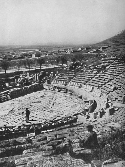 'The Theater of Dionysus on the southern slope of Acropolis', 1913-Unknown-Photographic Print
