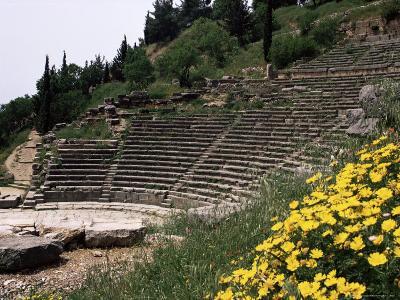 The Theatre, Delphi, Unesco World Heritage Site, Greece-Christina Gascoigne-Photographic Print