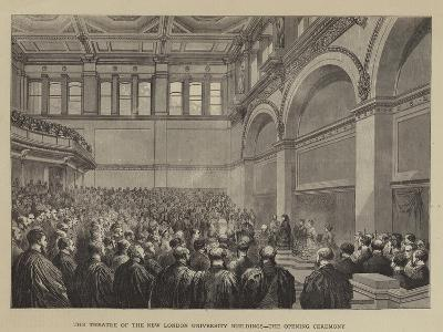 The Theatre of the New London University Buildings, the Opening Ceremony--Giclee Print