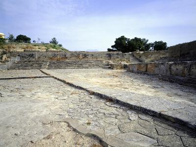 The Theatre of Western Court, at Phaistos Palace, Crete, Minoan Civilization, 16th-15th Century BC--Giclee Print