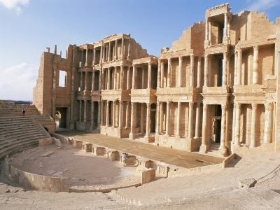 The Theatre, Sabrata (Sabratha), Unesco World Heritage Site, Tripolitania, Libya-Nico Tondini-Photographic Print
