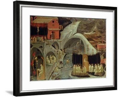 The Thebaid, c.1460-Paolo Uccello-Framed Giclee Print