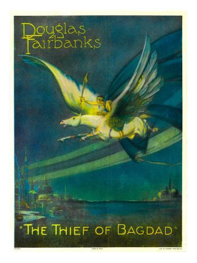 The Thief of Bagdad, Douglas Fairbanks on a Flying Horse, 1924--Photo