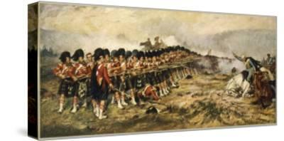 """The """"Thin Red Line"""" of the 93rd Highlanders Repel the Russian Cavalry"""