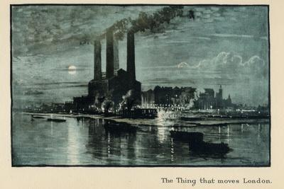 The Thing That Moves London, from 'The New Lights O' London', Published 1926-Donald Maxwell-Giclee Print