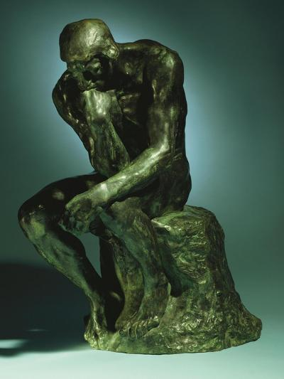 The Thinker, Le Penseur, Bronze with Black Patina, c.1880-1882-Auguste Rodin-Giclee Print