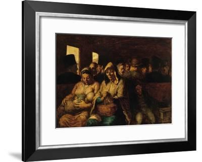 The Third-Class Carriage by Honoré Daumier-Honore Daumier-Framed Giclee Print