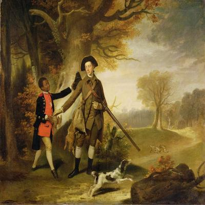 The Third Duke of Richmond (1735-1806) Out Shooting with His Servant, c.1765-Johann Zoffany-Giclee Print