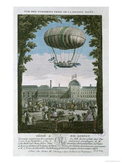 The Third Flight of Nicholas Robert--Giclee Print