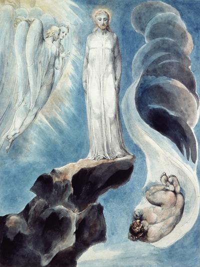 The Third Temptation-William Blake-Giclee Print