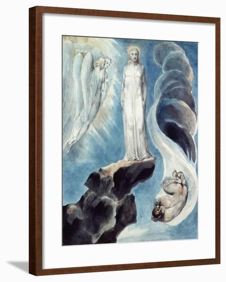 The Third Temptation-William Blake-Framed Giclee Print