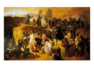 The Thirst of the Crusaders at the Foot of Jerusalem--Giclee Print
