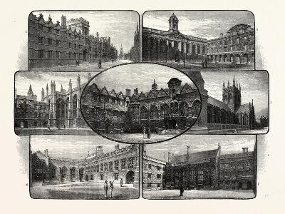 The Thirteenth and Fourteenth Century Colleges of Oxford University--Giclee Print