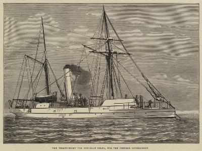 The Thirty-Eight Ton Gun-Boat Delta, for the Chinese Government--Giclee Print