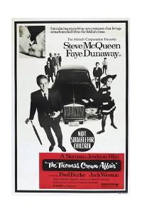 THE THOMAS CROWN AFFAIR, Australian poster, from left: Steve McQueen, Faye Dunaway, 1968