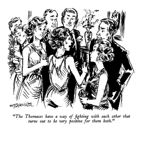 """The Thomases have a way of fighting with each other that turns out to be ?"" - New Yorker Cartoon-William Hamilton-Premium Giclee Print"