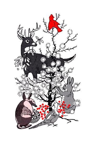 The Thornbush Christmas Tree - Jack & Jill--Giclee Print