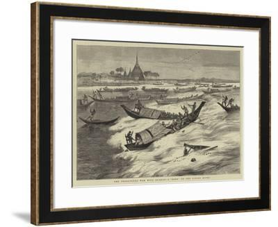 The Threatened War with Burmah, a Bore on the Sitang River-Joseph Nash-Framed Giclee Print