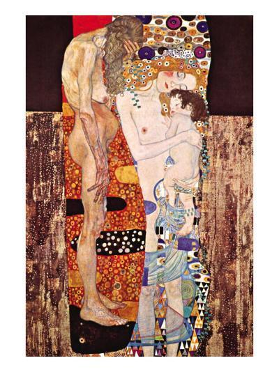 The Three Ages of a Woman-Gustav Klimt-Art Print