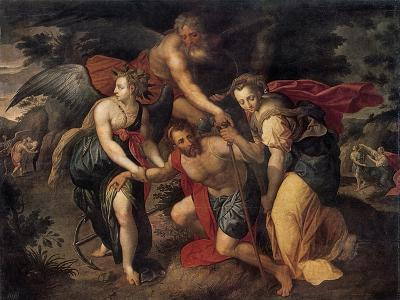 The Three Ages of Man, Allegory, Late 16th Century-Jacob de Backer-Giclee Print