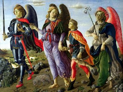 The Three Archangels and Tobias-Francesco Botticini-Giclee Print