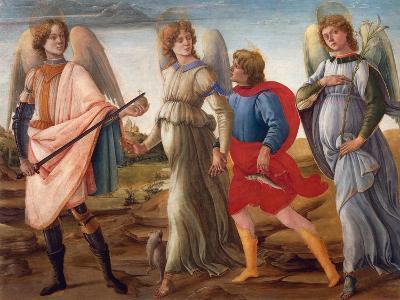 The Three Archangels and Tobias-Filippino Lippi-Giclee Print