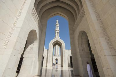 The Three Arches That Comprise the Main Entrance to the Sultan Qaboos Grand Mosque-Michael Melford-Photographic Print
