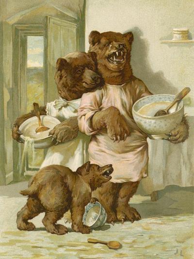 The Three Bears-John Lawson-Giclee Print