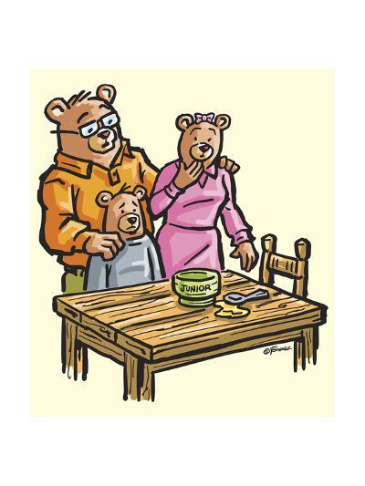 The Three Bears-Jerry Gonzalez-Giclee Print