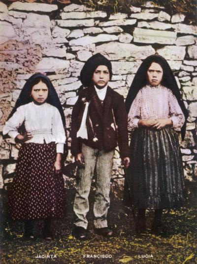 The Three Children Jacinta Francisco and Lucia Who Saw the Vision of Fatima in Portugal--Photographic Print