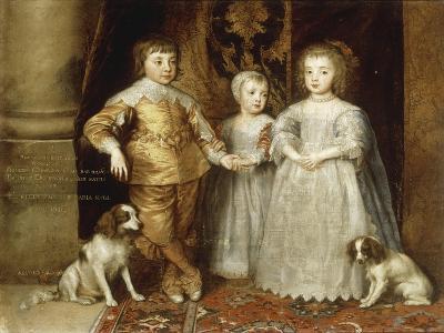 The Three Children of Charles I, 1635-Sir Anthony Van Dyck-Giclee Print
