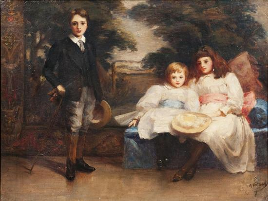The Three Children of the 4th Marquis of Cholmondeley-Ada Holland-Giclee Print