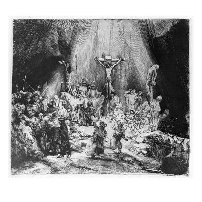 The Three Crosses, 1653 (Drypoint)-Rembrandt van Rijn-Giclee Print