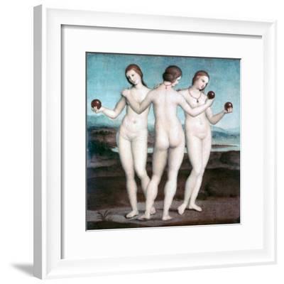 The Three Graces, 1504-1505-Raphael-Framed Giclee Print