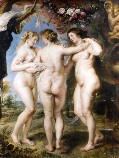 The Three Graces, C. 1635-Peter Paul Rubens-Giclee Print