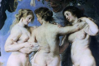 The Three Graces, (Detail), C1636-1638-Peter Paul Rubens-Giclee Print