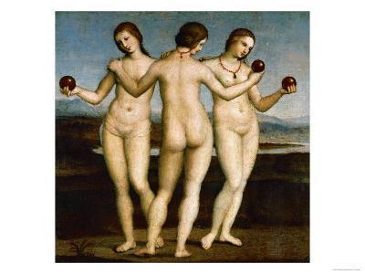 The Three Graces-Raphael-Giclee Print