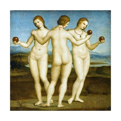 The Three Graces-Raphael-Giclee Print