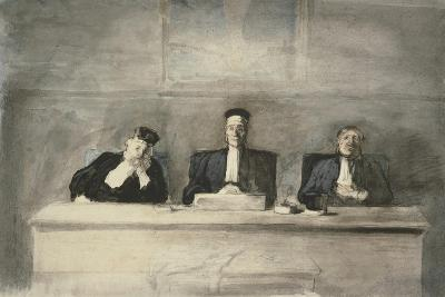 The Three Judges, 1858-60-Honore Daumier-Giclee Print