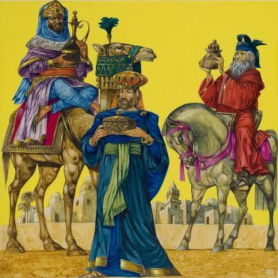 The Three Kings-Richard Hook-Giclee Print