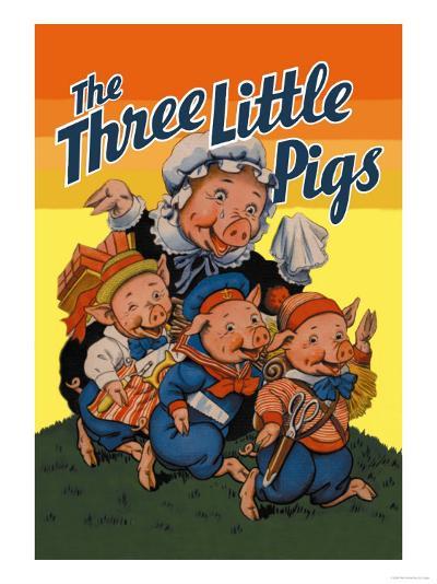 The Three Little Pigs-Milo Winter-Art Print