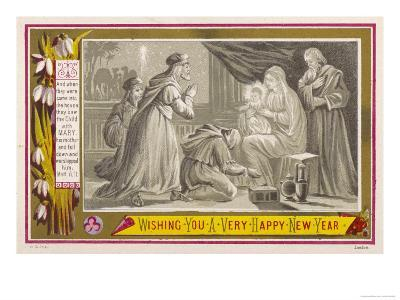 The Three Magi Give Jesus His Birthday Presents--Giclee Print