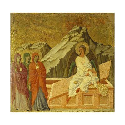 The Three Marys at the Tomb, Detail of Tile from Episodes from Christ's Passion and Resurrection-Duccio Di buoninsegna-Giclee Print